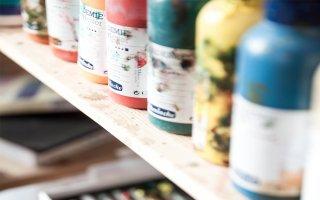 paint bottles
