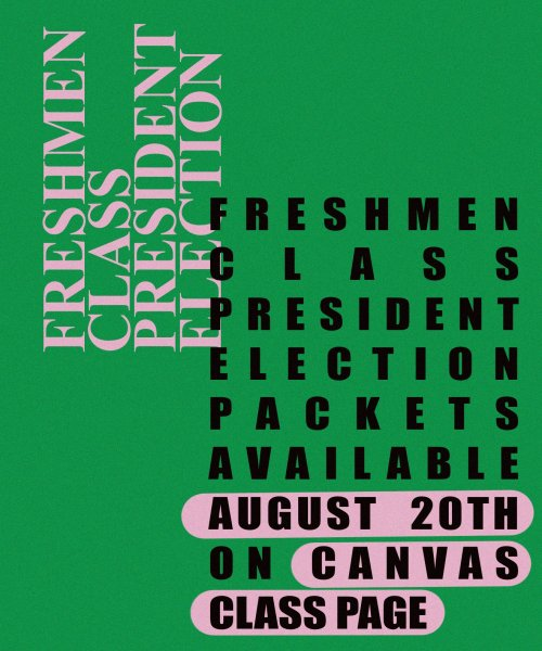 Freshman President Election Packets