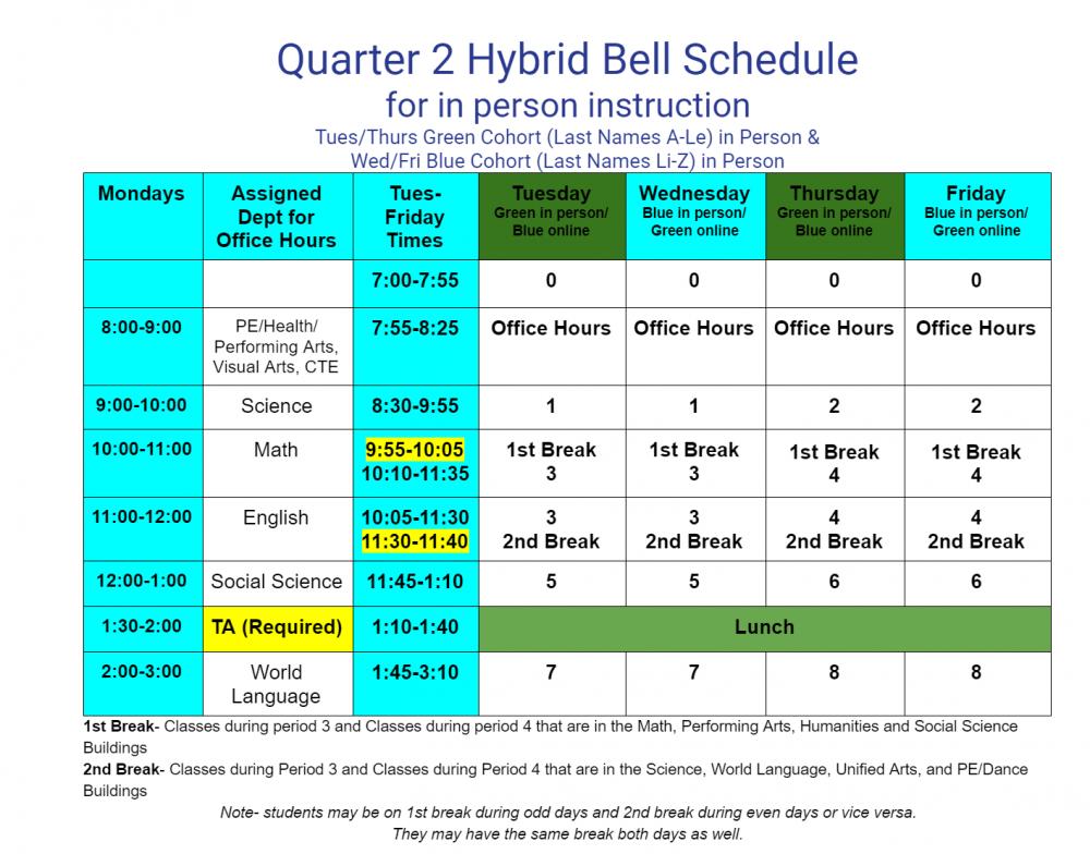 Hybrid Schedule 10-26