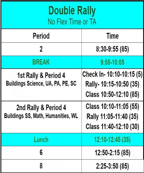 Fri Fall Rally Schedule