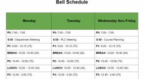 Emergency Distance Learning Schedule