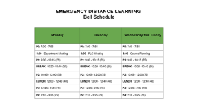 EDL Schedule