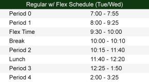 Flex Bell Schedule