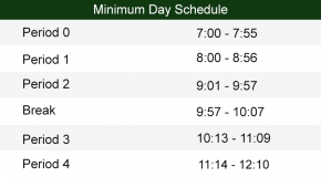 Minimum Day Bell Schedule