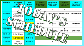 Todays Schedule