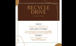 IHS Red Cross Club Recycling Drive