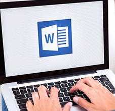 Laptop with Microsoft Word