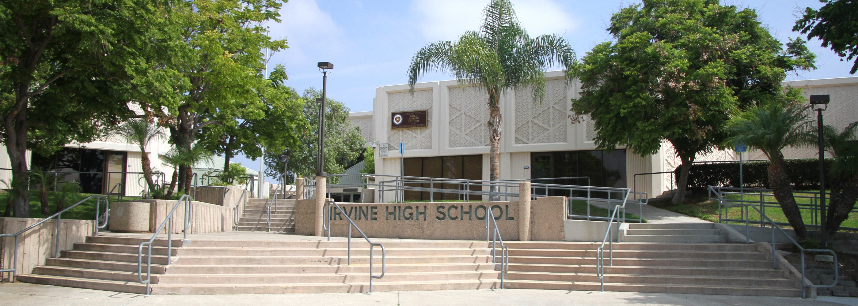 Front of Irvine High School
