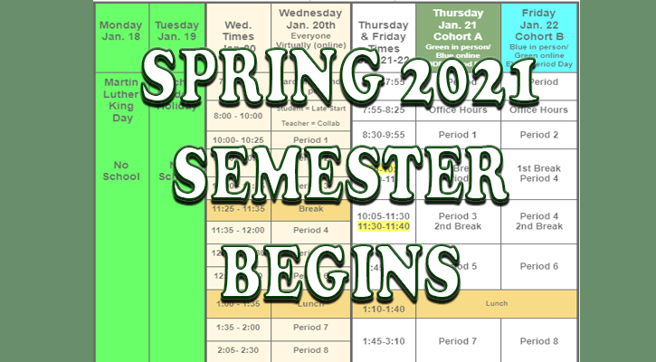 Spring 2021 Semester Begins